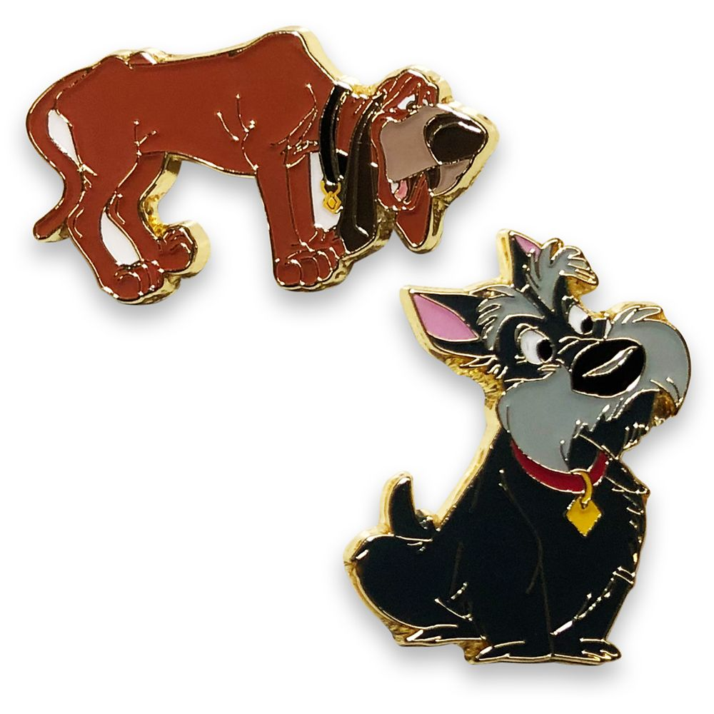Jock and Trusty Best Friends Flair Pin Set – Lady and the Tramp