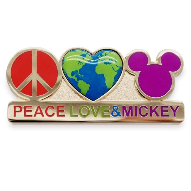 Mickey Mouse ''Peace, Love & Mickey'' Pin