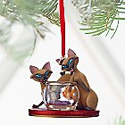 Si & Am Sketchbook Ornament - Lady and the Tramp - Personalizable