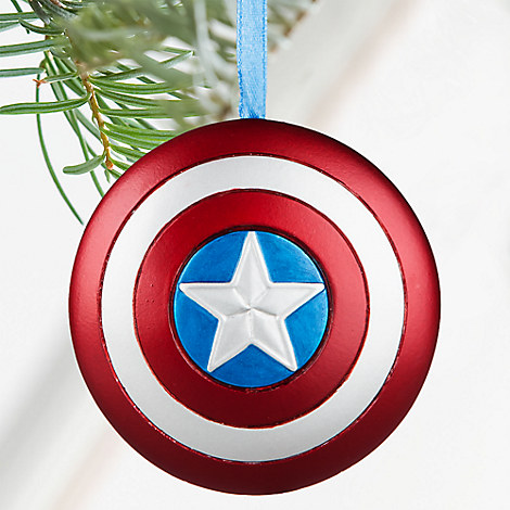 Captain America Shield Sketchbook Ornament - Personalizable