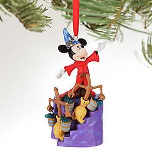 Sorcerer Mickey Mouse Light-Up Sketchbook Ornament - Fantasia