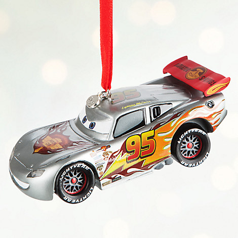 Lightning McQueen Light-Up Sketchbook Ornament - Personalizable