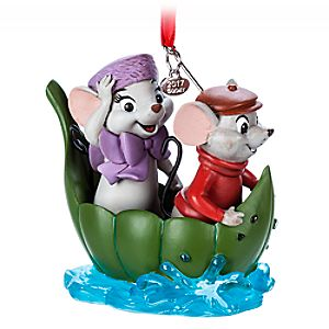 Bernard and Miss Bianca Sketchbook Ornament – The Rescuers – 40th Anniversary