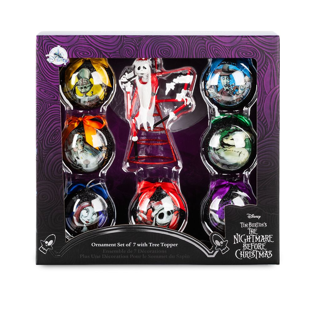 The Nightmare Before Christmas Ornament Set and Tree Topper
