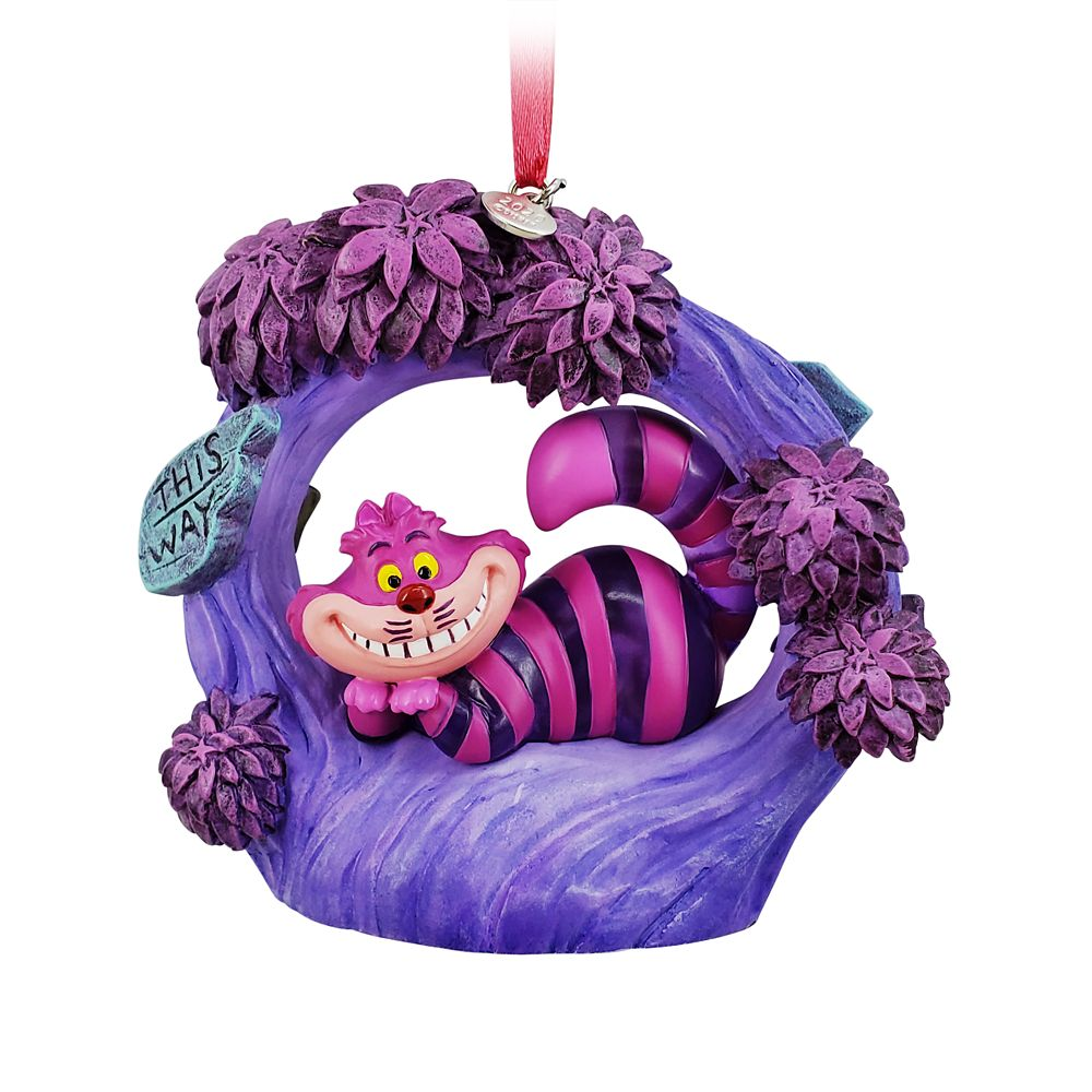 Cheshire Cat Light-Up Living Magic Sketchbook Ornament – Alice in Wonderland