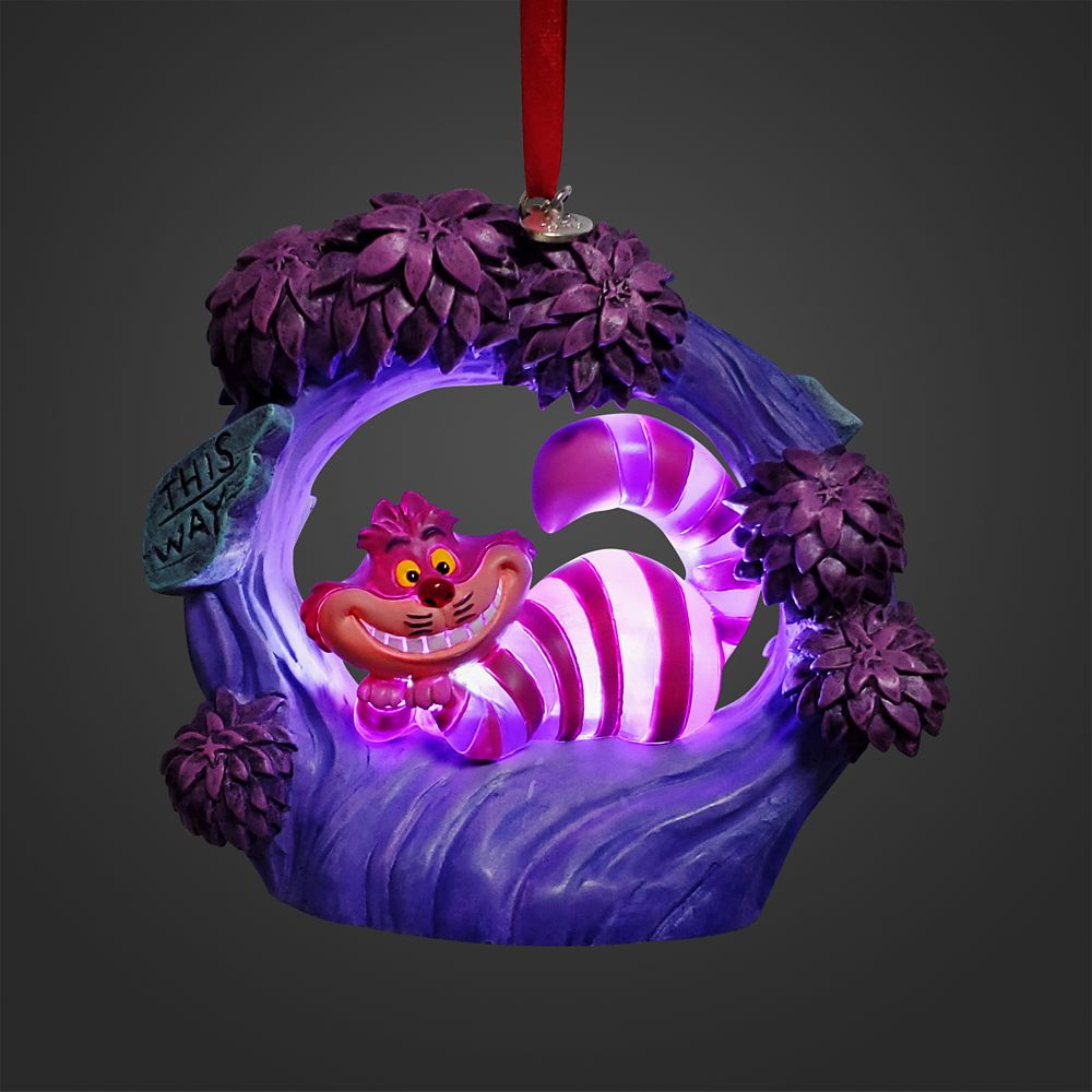 Cheshire Cat Light-Up Living Magic Sketchbook Ornament – Alice in Wonderland