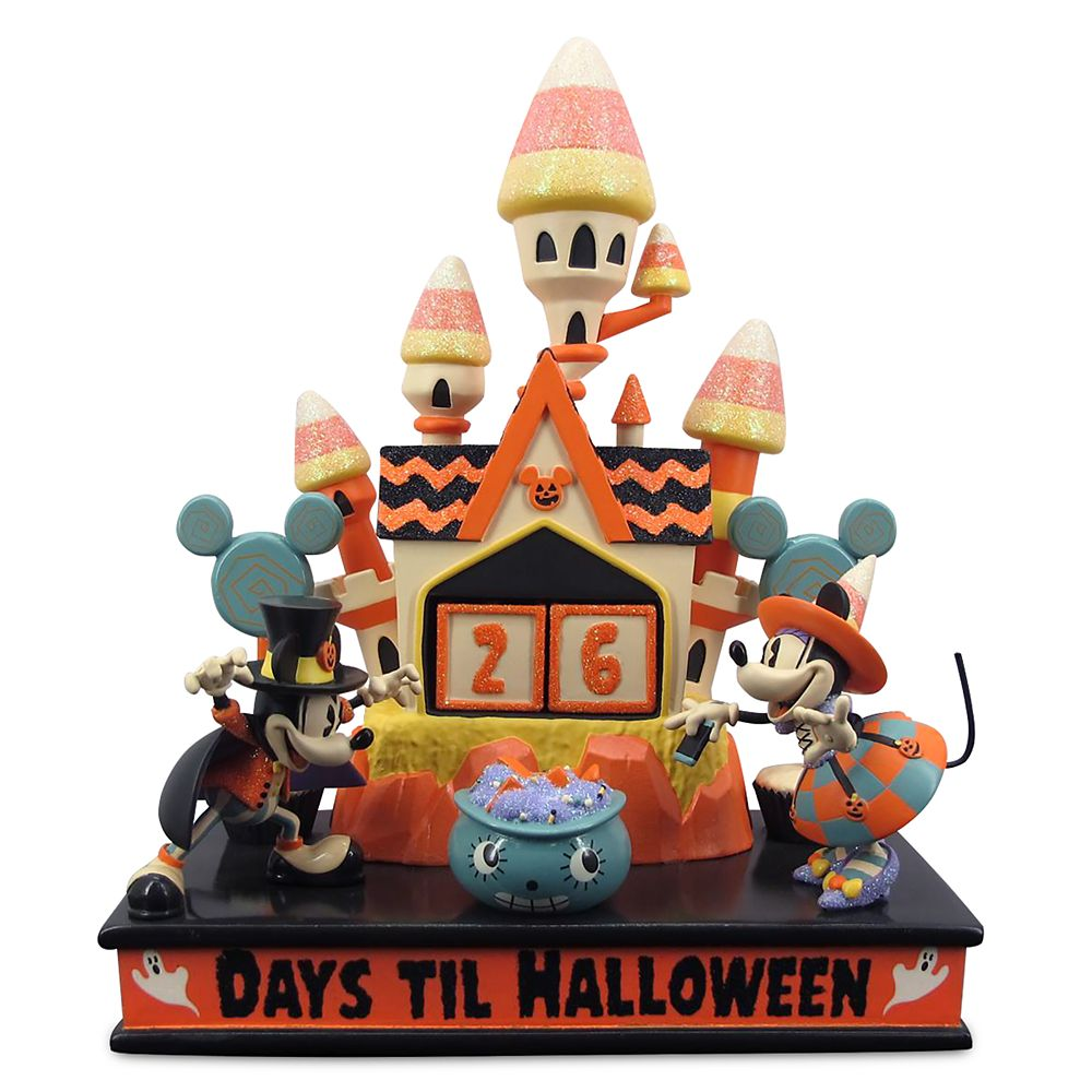 Mickey and Minnie Mouse Halloween Countdown Calendar