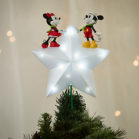 Mickey and Minnie Mouse Light-Up Tree Topper - Holiday