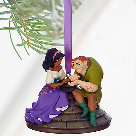 Quasimodo and Esmeralda Sketchbook Ornament - The Hunchback of Notre Dame - Personalizable