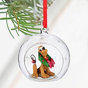 Pluto Glass Globe Sketchbook Ornament - Personalizable