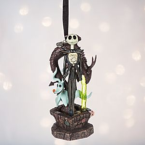 Jack Skellington and Zero Light-Up Sketchbook Ornament - Personalizable