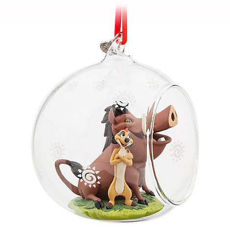 Timon and Pumbaa Glass Globe Sketchbook Ornament