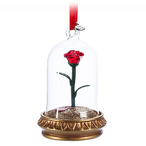 Enchanted Rose Light-Up Sketchbook Ornament - Beauty and the Beast