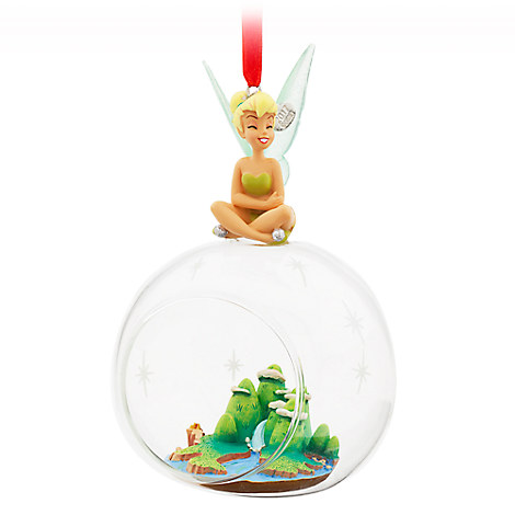 Tinker Bell Glass Globe Sketchbook Ornament