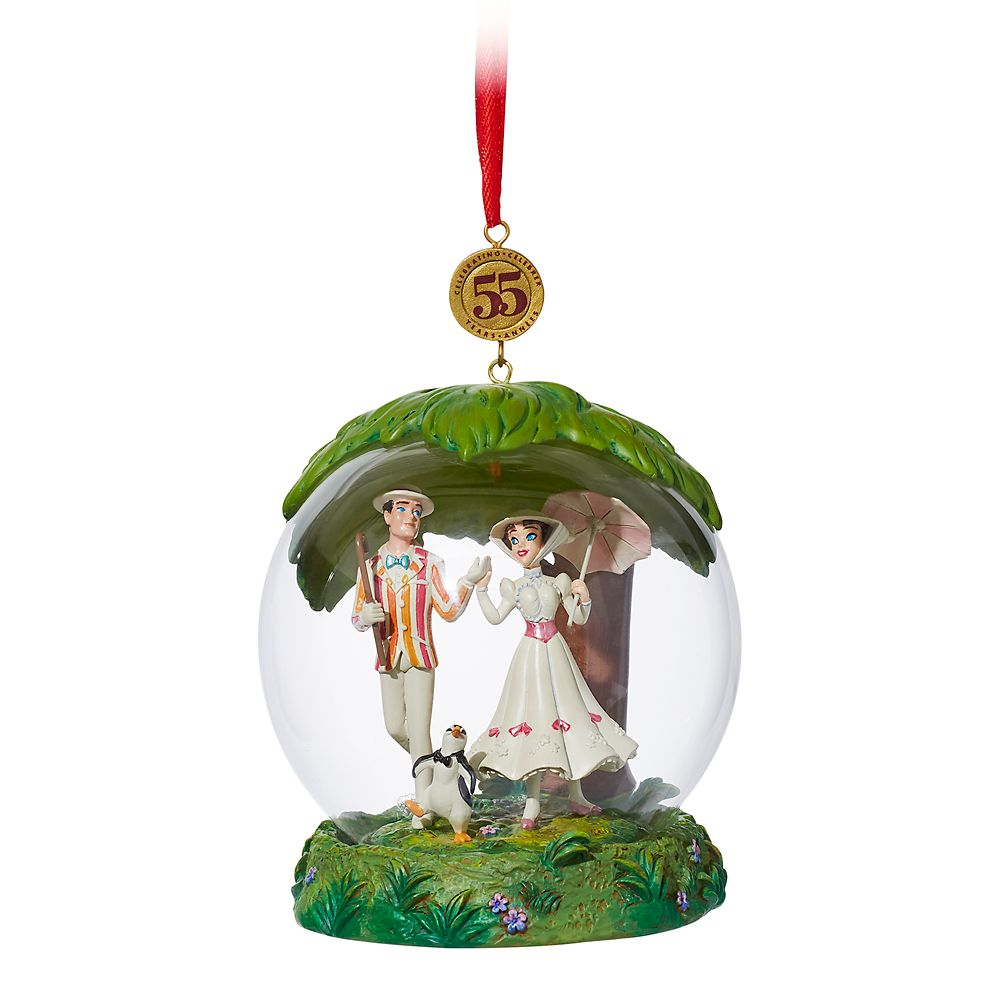Mary Poppins Glass Dome Legacy Sketchbook Ornament – Limited Release