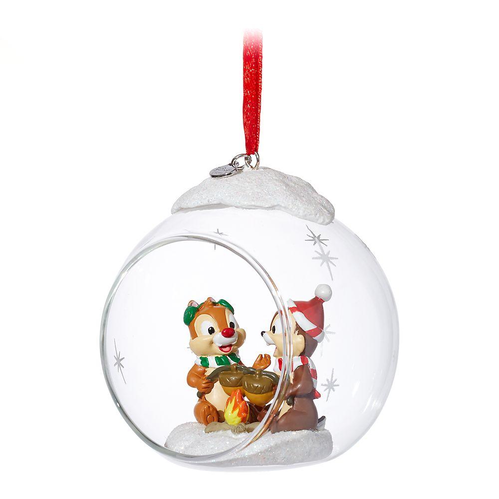 Chip 'n Dale Glass Globe Sketchbook Ornament