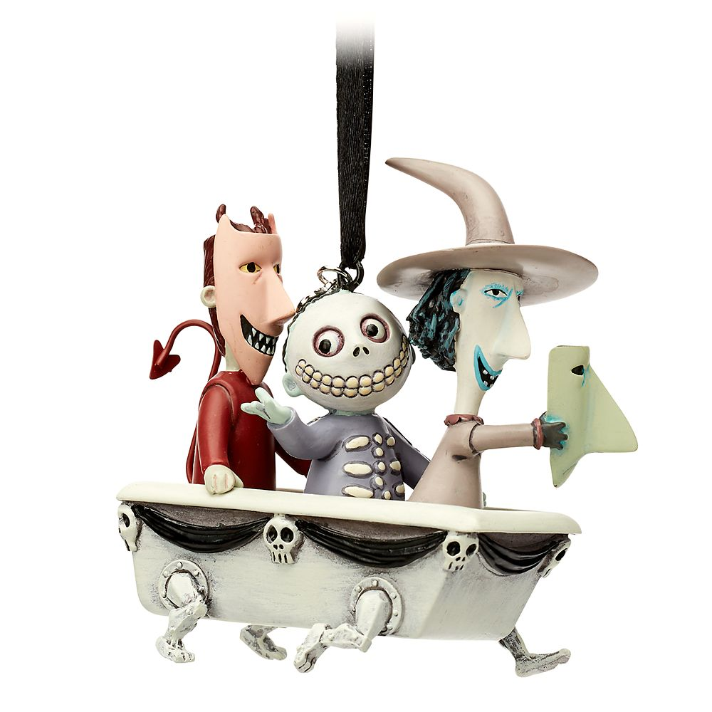 Lock, Shock & Barrel Sketchbook Ornament – The Nightmare Before Christmas