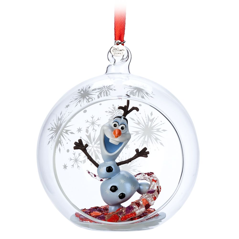 Olaf Glass Globe Sketchbook Ornament – Frozen 2