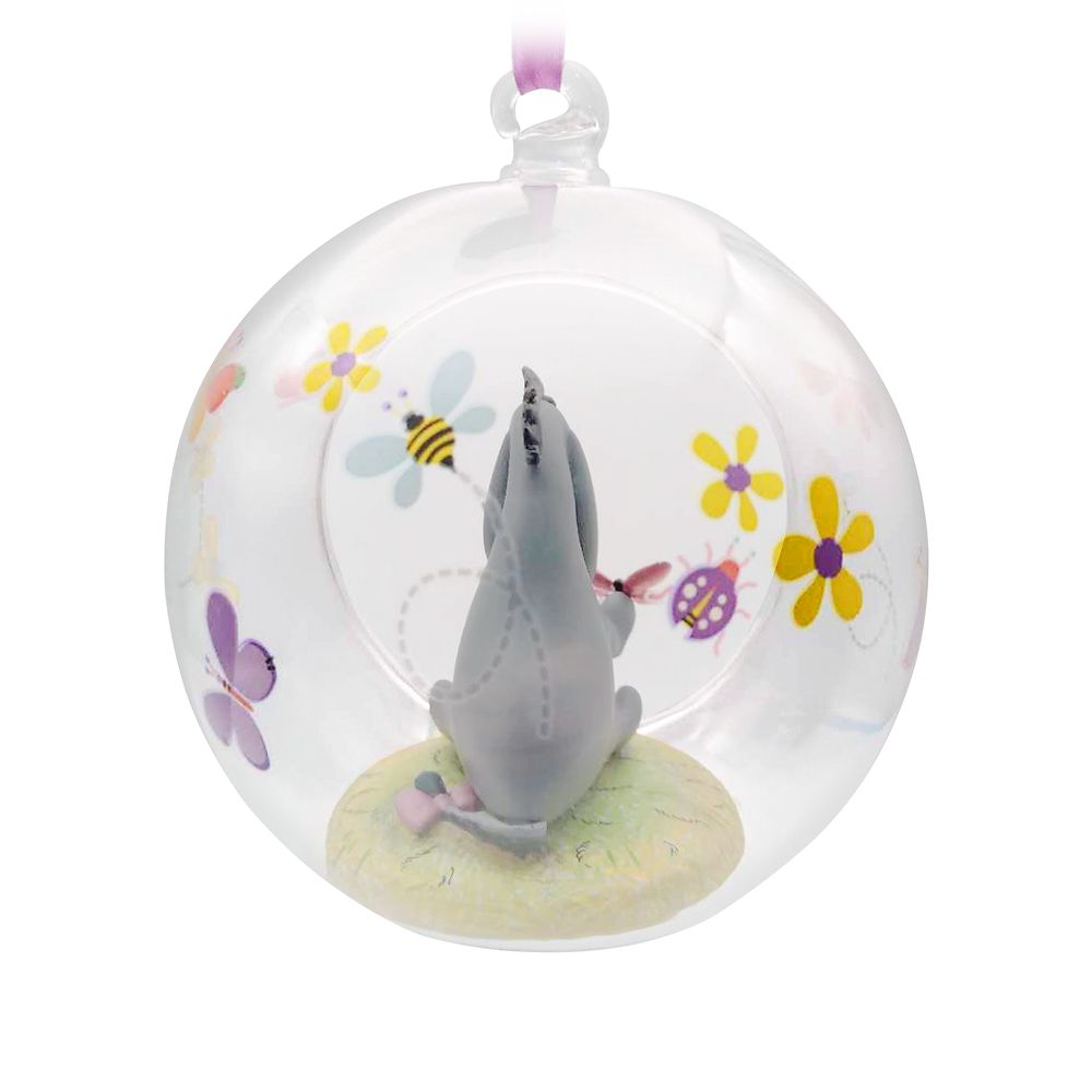 Eeyore Glass Globe Sketchbook Ornament