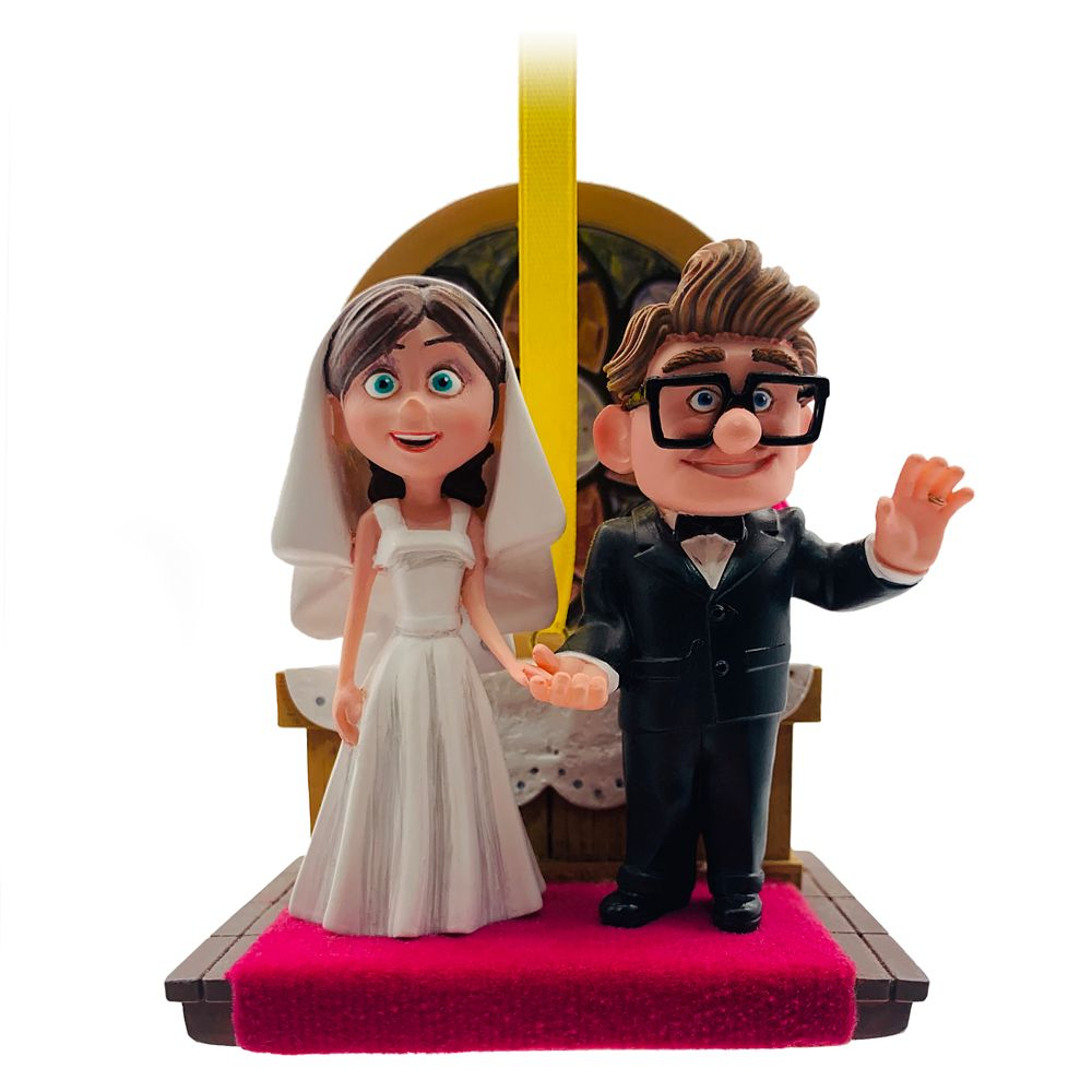 Carl and Ellie Wedding Sketchbook Ornament – Up