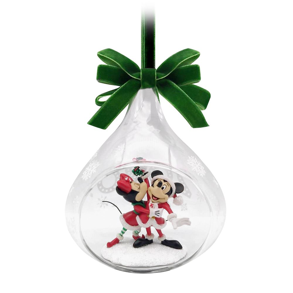 Mickey and Minnie Mouse Glass Drop Sketchbook Ornament 2020