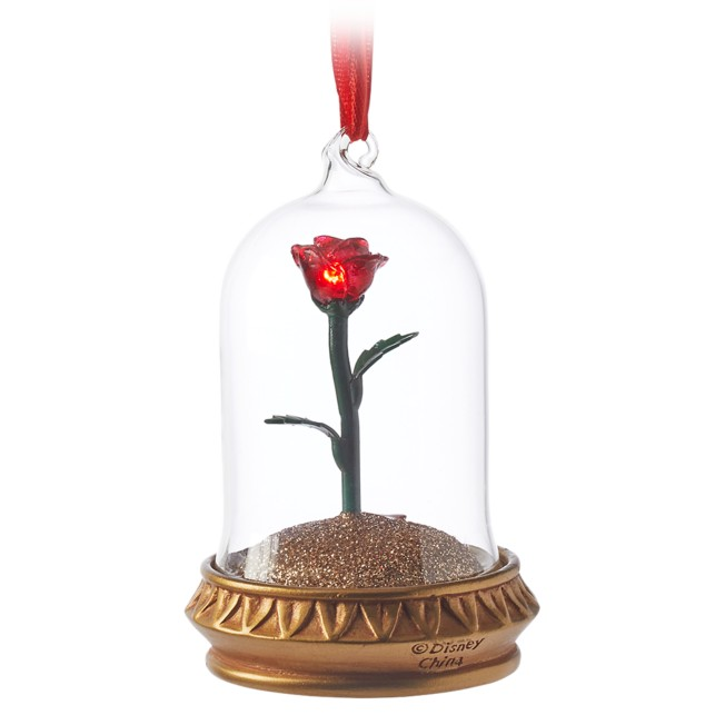Enchanted Rose Light-Up Living Magic Sketchbook Ornament – Beauty and the Beast