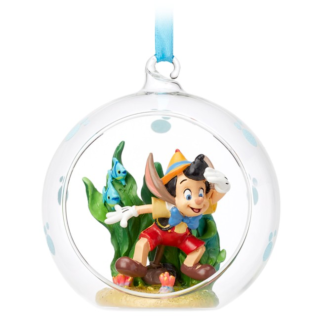 Pinocchio Glass Globe Sketchbook Ornament