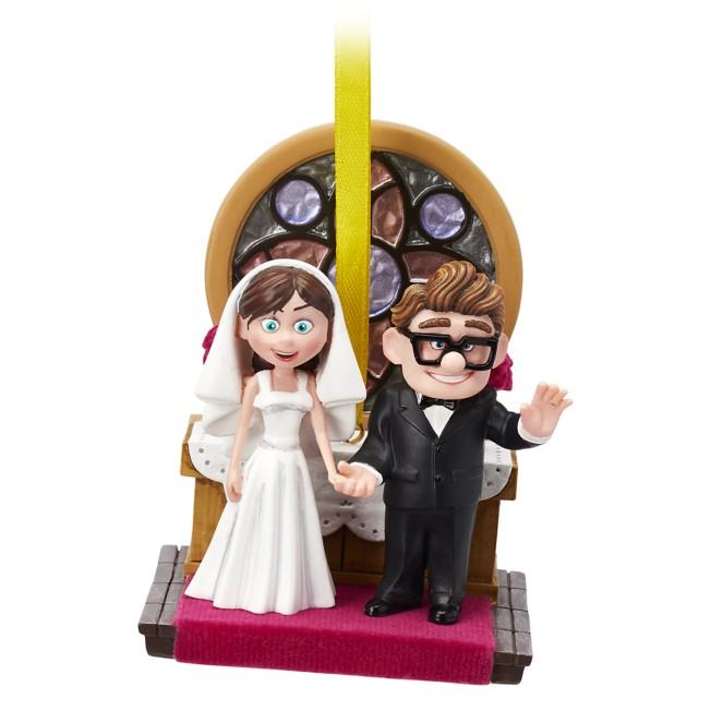 Carl and Ellie Wedding Sketchbook Ornament – Up
