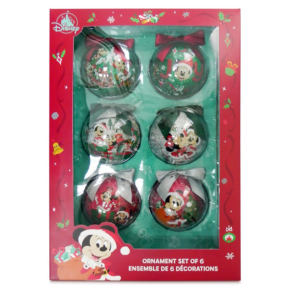 Mickey Mouse and Friends Sketchbook Ball Ornament Set
