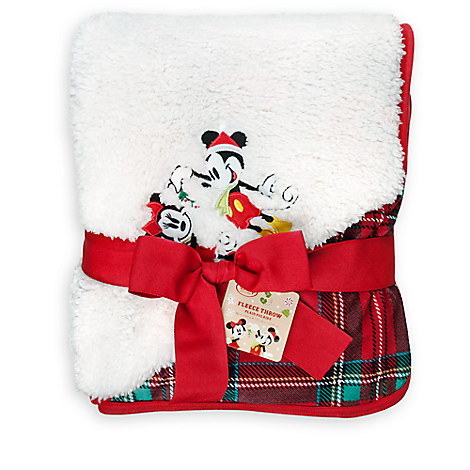 Mickey and Minnie Mouse Fleece Throw - Holiday