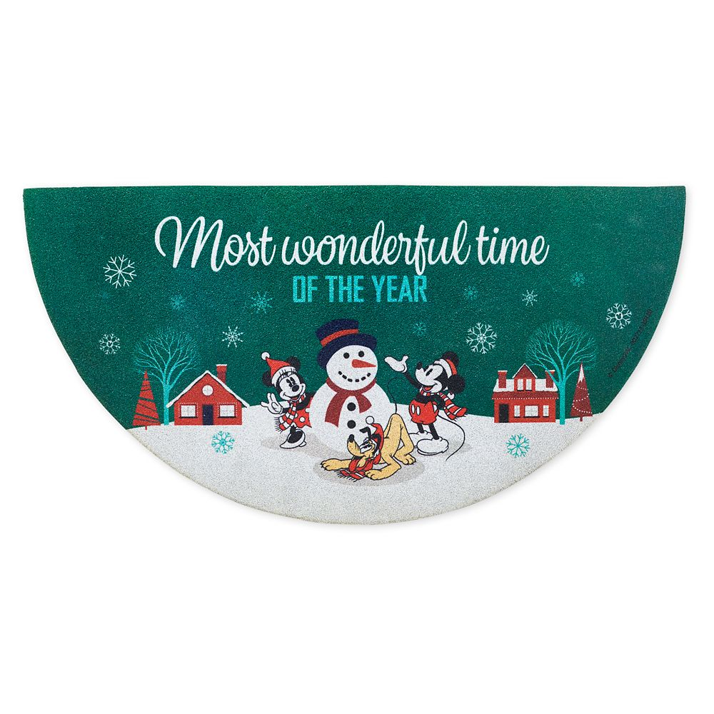 Mickey and Minnie Mouse Holiday Doormat