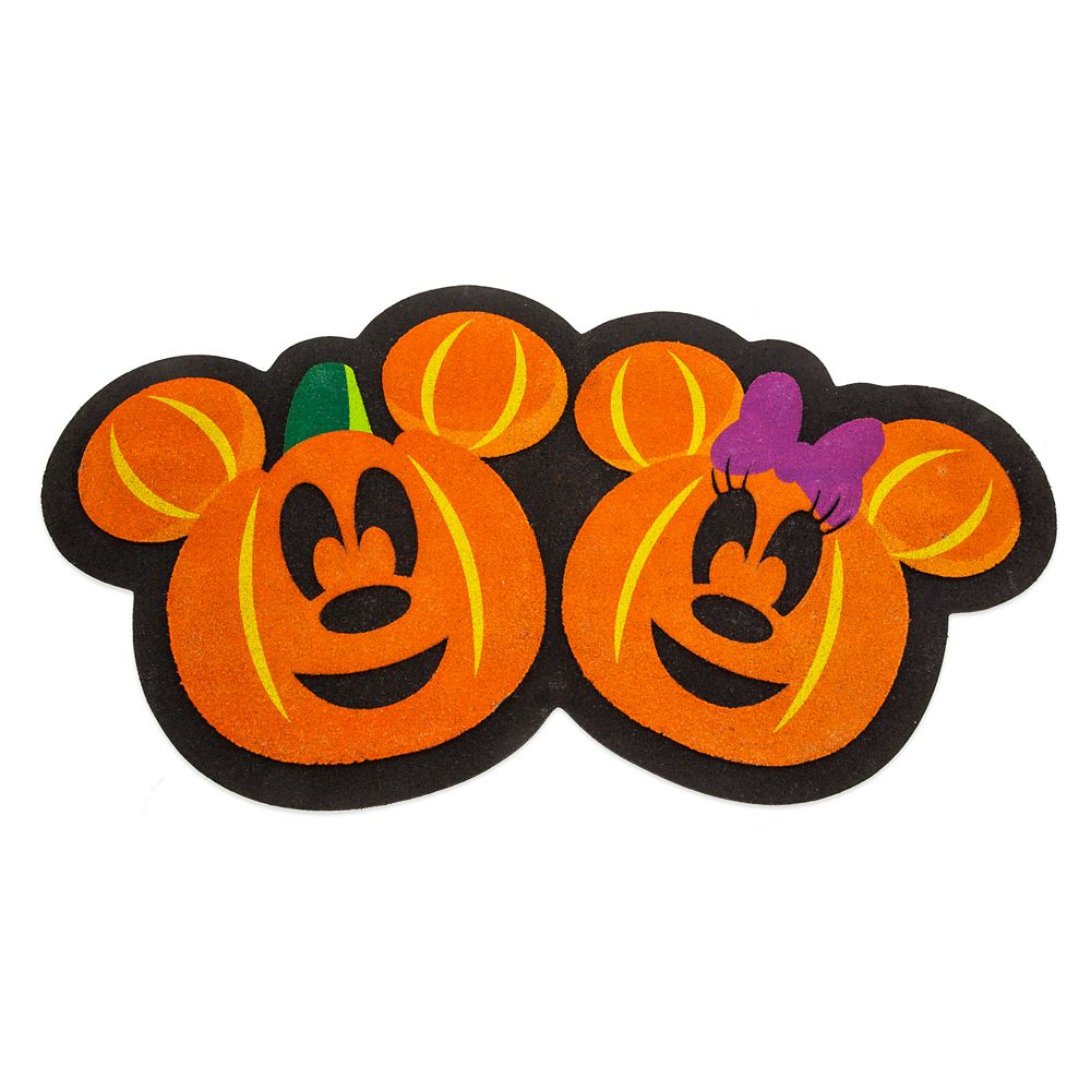 Mickey and Minnie Mouse Halloween Doormat