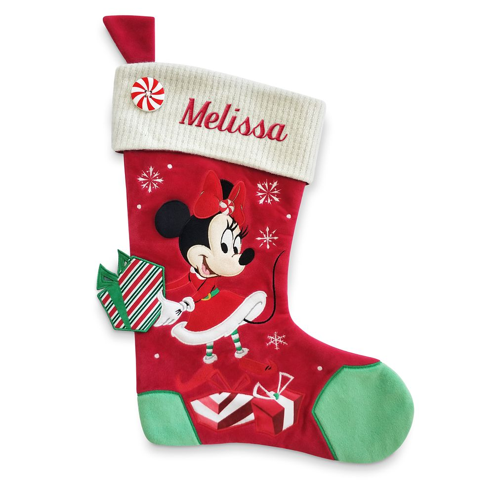 Minnie Mouse Holiday Stocking – Personalizable