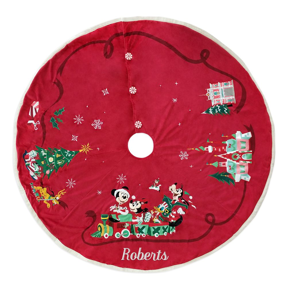 Mickey Mouse and Friends Holiday Tree Skirt – Personalizable