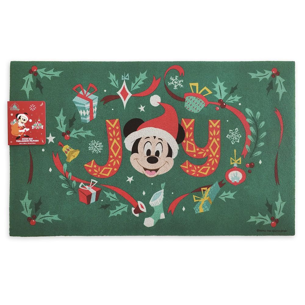 Mickey Mouse Holiday Door Mat