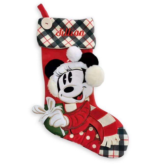 Minnie Mouse Holiday Stocking – Personalized