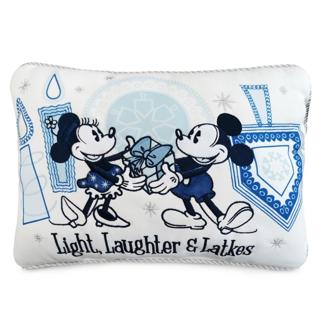 Mickey and Minnie Mouse Chanukah Throw Pillow