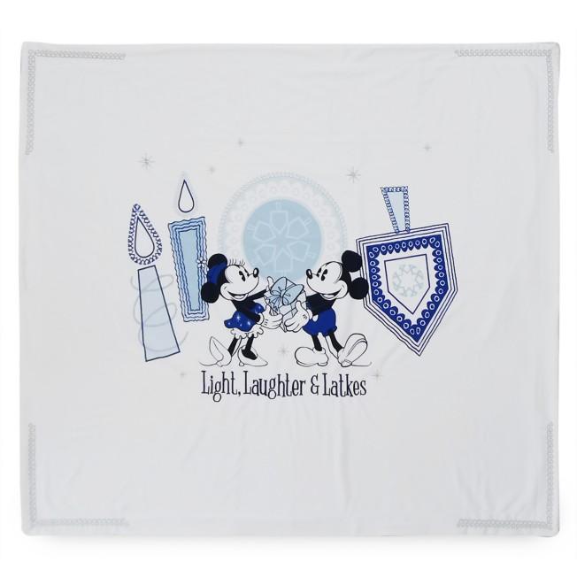 Mickey and Minnie Mouse Chanukah Fleece Throw