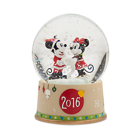 Mickey and Minnie Mouse Snowglobe - Holiday 2016