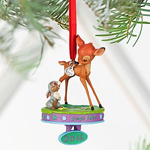 Bambi and Thumper Sketchbook Ornament - ''Baby's First 2016'' - Personalizable