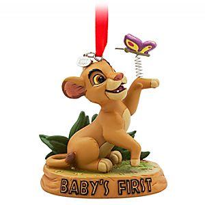 "Simba Sketchbook Ornament – ""Baby's First"""