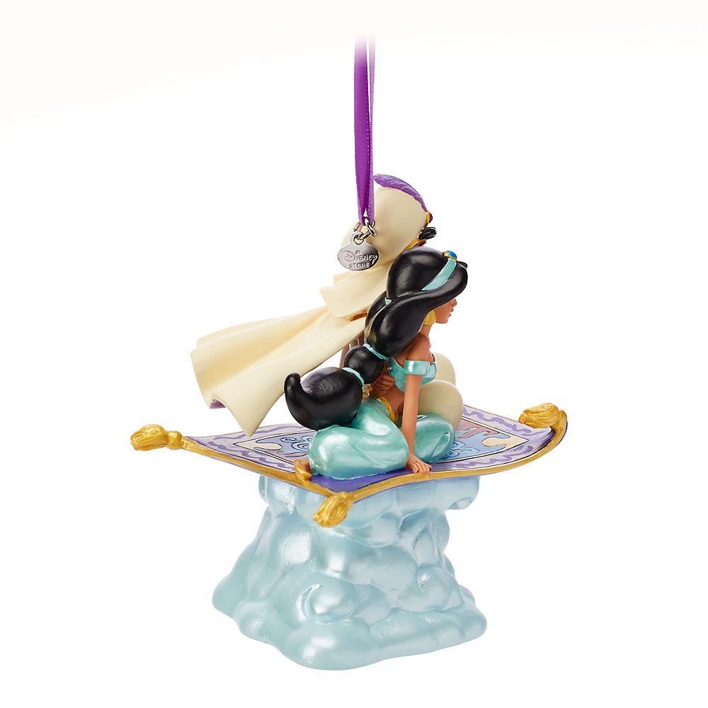 Aladdin and Jasmine Singing Living Magic Sketchbook Ornament
