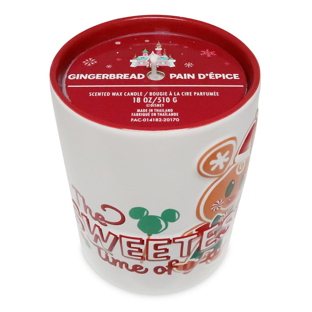 Mickey Mouse Gingerbread Scented Holiday Candle