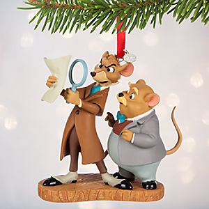Basil and Dawson Sketchbook Ornament - The Great Mouse Detective - Personalizable