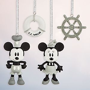 Steamboat Willie Sketchbook Minis Ornament Set