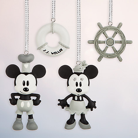 Steamboat Willie Sketchbook Minis Ornament Set