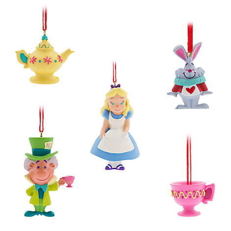 Alice in Wonderland Sketchbook Mini Ornament Set