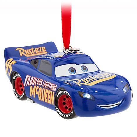 Lightning McQueen Light-Up Sketchbook Ornament - Cars 3 - Blue