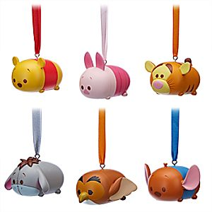 Winnie the Pooh and Friends ''Tsum Tsum'' Ornament Set