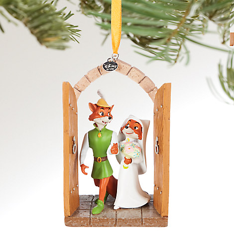 Robin Hood and Maid Marian Sketchbook Ornament - Personalizable